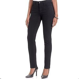 NYDJ side sparkle stripe black legging jeans size 4P new with tags